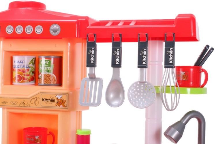Bucatarie interactiva MalPlay pentru copii cu lumini si sunete, Cuptor, Masina de spalat vase, Hota