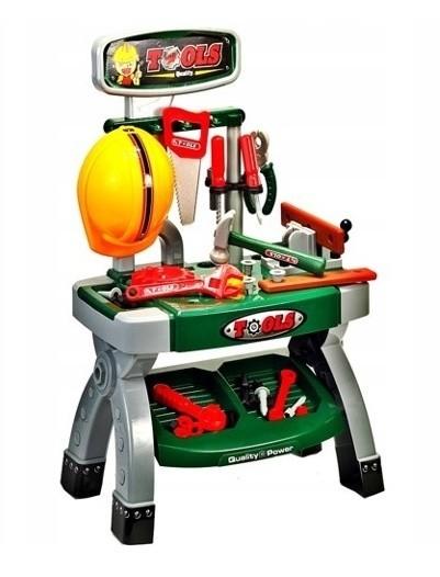 Banc de lucru MalPlay pentru copii cu unelte si accesorii, 71 cm inaltime