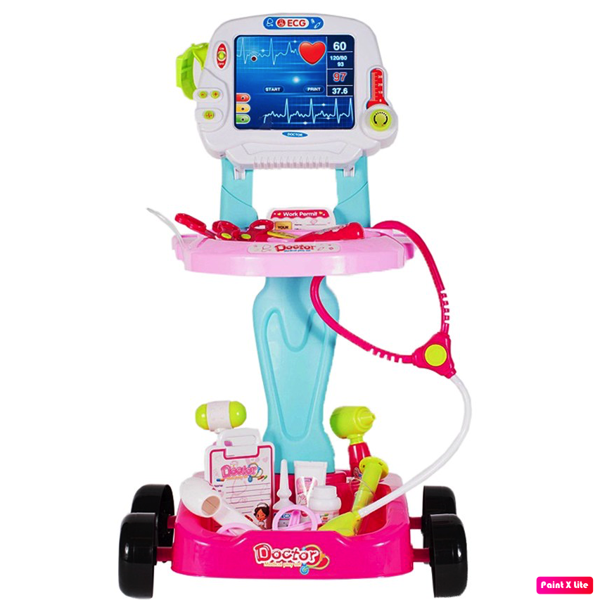 Ecograf de jucarie MalPlay cu sunete, lumini si accesorii, roz