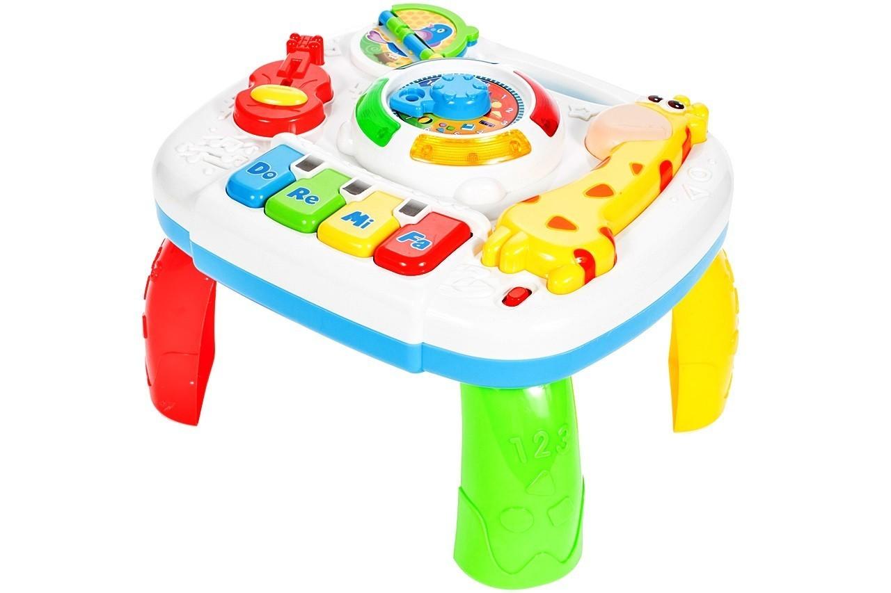 Jucarie interactiva Malplay Girafa Masuta cu activitati pentru bebelusi cu sunete si lumini