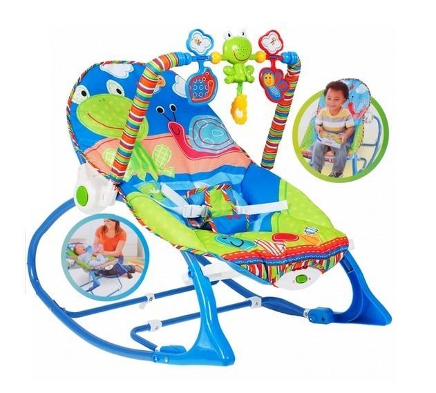 Scaun si Balansoar 2in1 Malplay baby pentru bebelusi albastru 0 - 18 kg