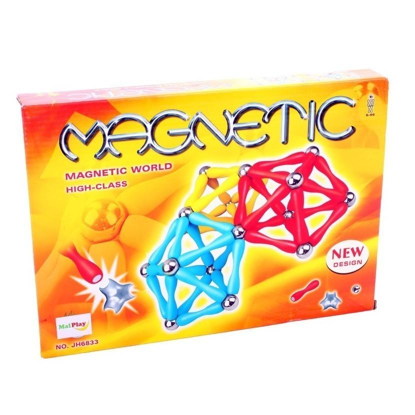 Set de constructie MalPlay Magnetic multicolor 120 piese