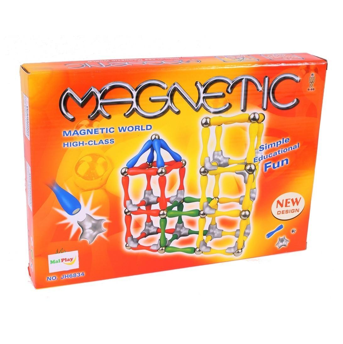 Set de constructie MalPlay Magnetic 120 elemente