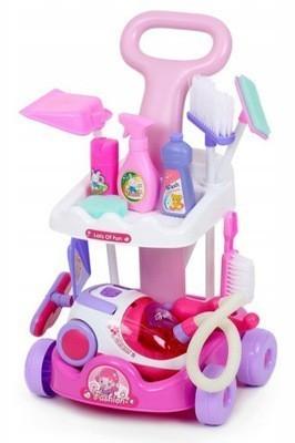 Set pentru curatenie de jucarie MalPlay Sweet Home, Roz