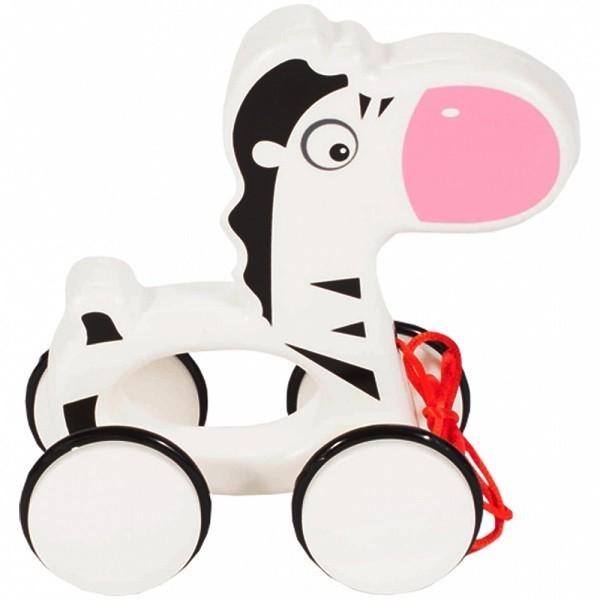 Jucarie de tras din plastic MalPlay pentru copii Zebra, 17 cm
